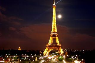 Stood on the Eiffel Tower at night with the love of my life