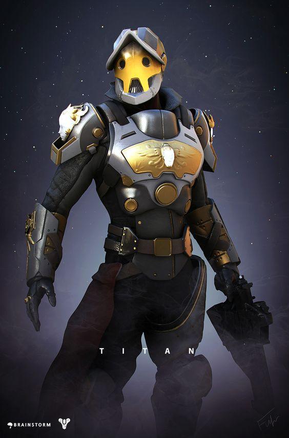 Destiny Titan Redesign, Alexander Fuhr on ArtStation at https://www.artstation.com/artwork/46RNk