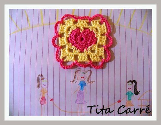 Tita Carré  Agulha e Tricot : Crochet com amor de mãe de Quintana para filha