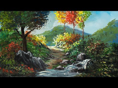 Forest River And Path How To Paint Acrylic Landscape Painting Tutorial Beautiful Nature Painting Youtube Acqua