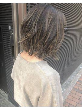 秋髪 ディープブルージュ ハイライト By 田渕 英和 Vicus Hair