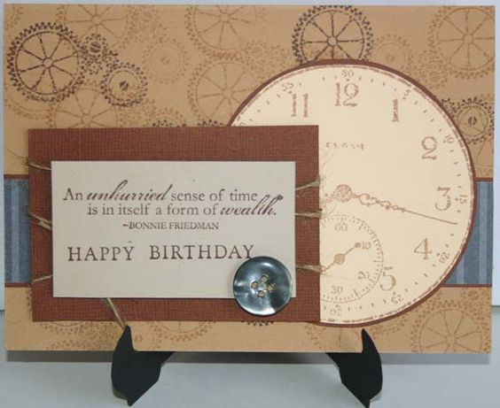 SC240 - Sense of Time Birthday- Nice card for a man