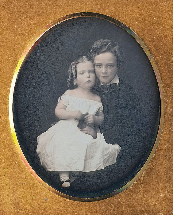 Adorable siblings...Dennis A. Waters Fine Daguerreotypes: