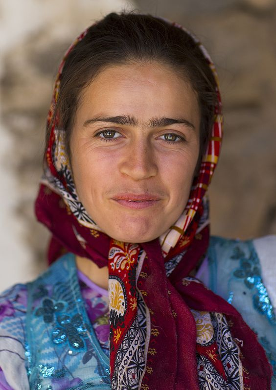 Kurdish woman in Palagan, Iran by Eric Lafforgue.