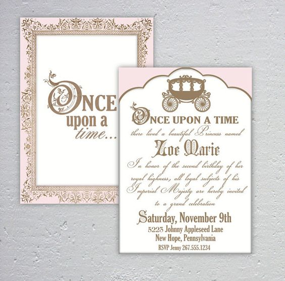 elegant once upon a time birthday or baby shower by dazzleology 20
