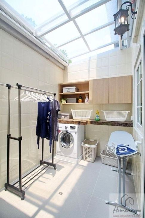 20 Minimalist Laundry Room Ideas For Small Space In 2020 Outdoor Laundry Rooms Home Room Design Laundry Design