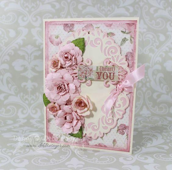 Handmade flowers using hcofficial dies and spellbinders for Handmade paper creations