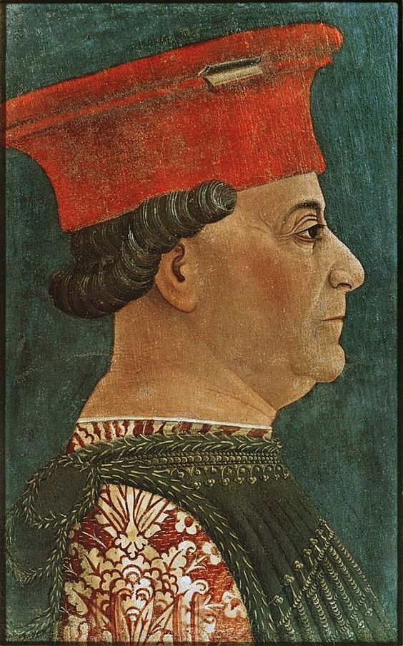 """Retrato de Francesco Sforza"". (by Bonifacio Bembo, * 1447-1477)."