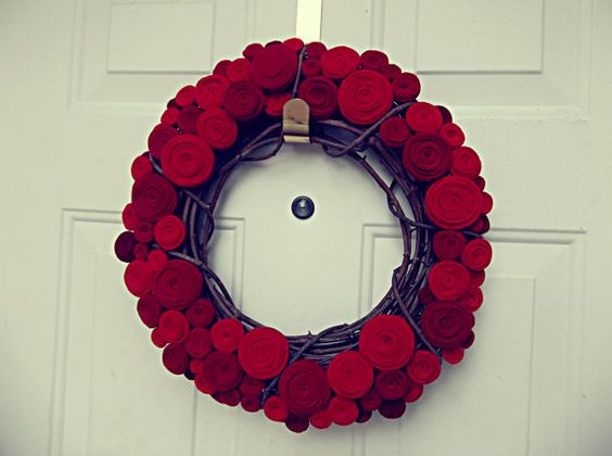 felt wreath for wedding ceremony or reception entrance (by handmade colectibles)