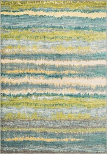 Lyon Teal Contemporary Striped Loloi Rug Hlz 15 219 The