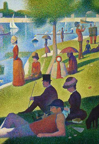 Ile De La Grande Jatte : grande, jatte, Detail, Sunday, Afternoon, Grande, Jatte',, Canvas), Impressionist, Impressionism,, Seurat