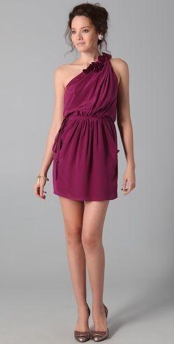 abito corto color vinaccia