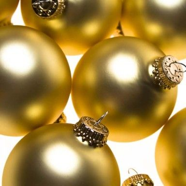 Krebs Gold Velvet Glass Baubles - 8 x 67mm