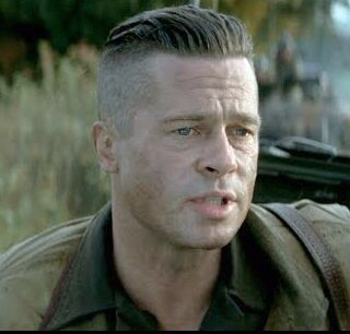 brad pitt fury hair - photo #18