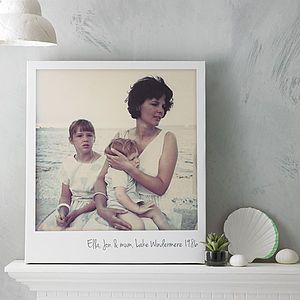 Our Personalised Giant Polaroid Canvas Print - a perfect way to get your photos off your photos and onto your wall http://www.notonthehighstreet.com/thedriftingbear