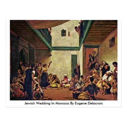 Jewish Wedding In Morocco By Eugene Delacroix Postcard
