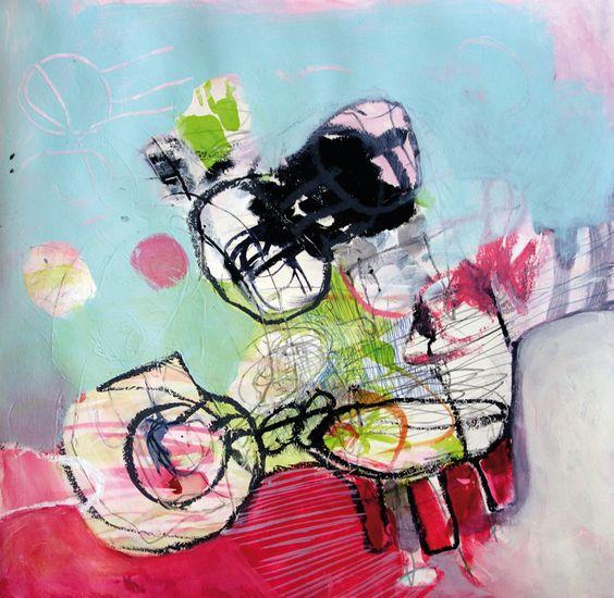 Linie umgarnt Farbe | Daniela Kammerer