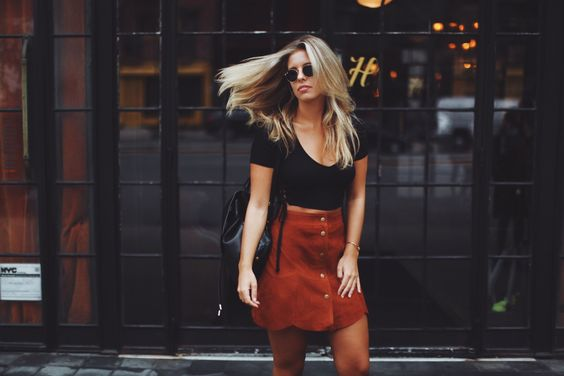 Let suede be your best friend. || Shop the skirt: http://www.nastygal.com/suede/nasty-gal-bobby-mcgee-suede-skirt?utm_source=pinterest&utm_medium=smm&utm_term=stylechat_style&utm_campaign=ngdib