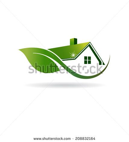 Natural House Logo cleaning image. Vector icon