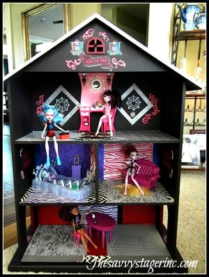 Make Your Own Monster High House My Diy Pinterest