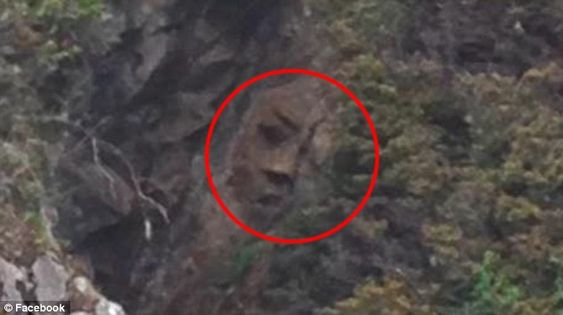 Face hidden on Canadian cliff is found by explorer after TWO YEAR search - but was it made by humans or nature?