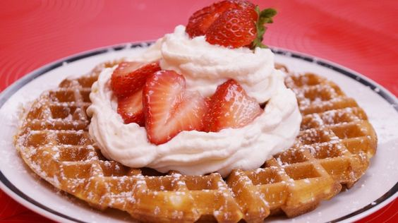 Homemade Waffles made with a simple batter. This is Mom's Best, Waffle ...