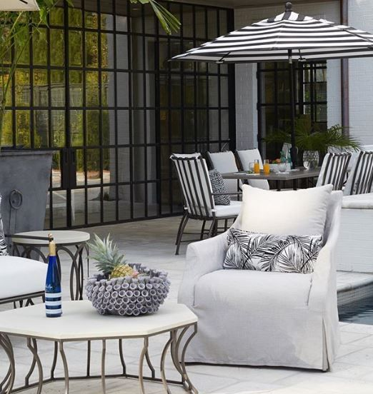 Bringing Indoor Style To The Outdoors With Our Baldwin Collection With Images Summer Classics Furniture Outdoor Furniture Sets Summer Classics Outdoor Furniture