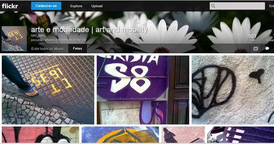 Print do projeto Arte e Mobilidade Urbana no Flickr, contendo registros de percursos urbanos utilizando câmeras e celulares. Realizado pelo Grupo Mobilidade do Nucleo de Arte e Tecnologia, da Escola de Artes Visuais do Parque Lage.
