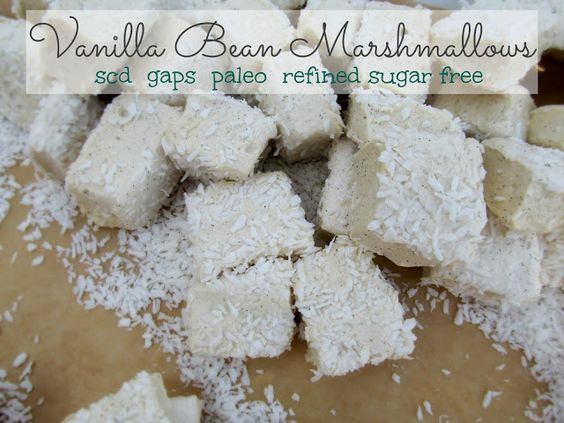 Vanilla Bean Marshmallows- GAPS SCD Paleo  #SweetKissesandDirtyDishes