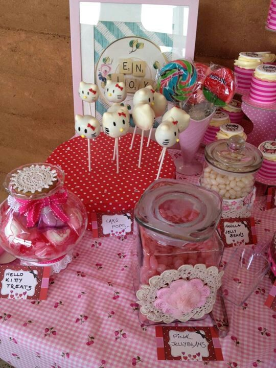 Hello Kitty party table