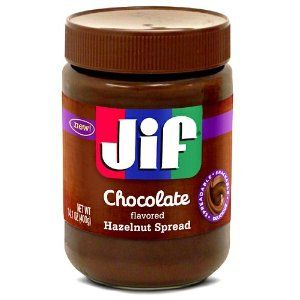Jif Chocolate Flavored Hazelnut Spread.. This stuff is delightful!!