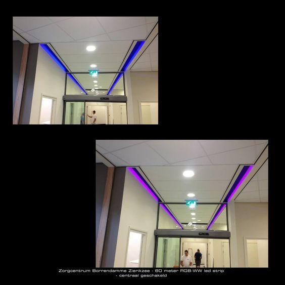 60meter lange gang met aan beiden kanten led verlichting centraal bestuurbaar door middel van - Deco lange idee gang ...