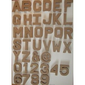 Great fun to decorate strong cardboard papier mache for Alphabet letters cardboard