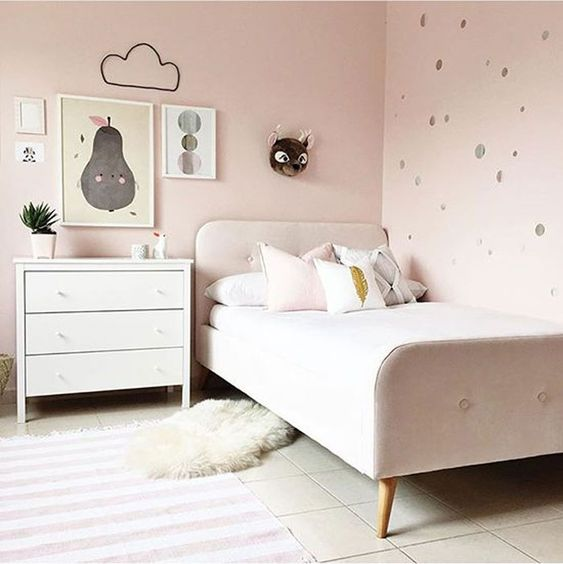 Different Pinks for Girls' Rooms - by Kids Interiors
