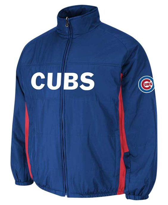 Majestic Men's Chicago Cubs Double Climate On-Field Full-Zip Jacket