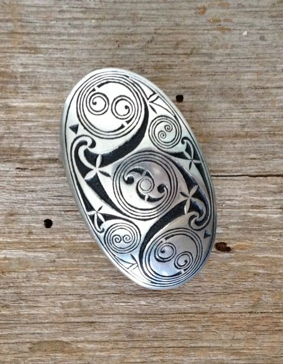 Pewter Celtic Belt Buckle Pendant Brooch Keychain Hand by Freeagle, $35.00