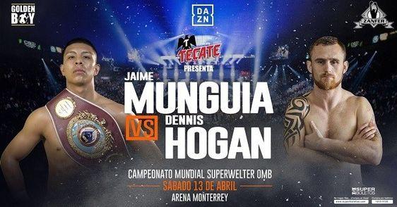 Прямая трансляция вечера бокса: Хайме Мунгиа — Деннис Хоган