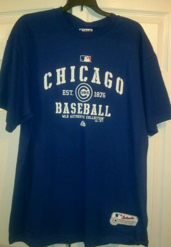 Authentic MLB, Chicago Cubs, Majestic  Shirt, Size XL. Adult ***NEW*** #Majestic #ChicagoCubs
