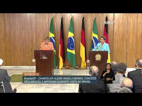 Dilma Rousseff e Angela Merkel fazem declaração conjunta à imprensa