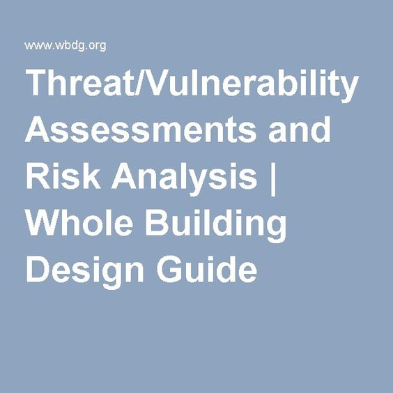 ThreatVulnerability Assessments And Risk Analysis  Whole