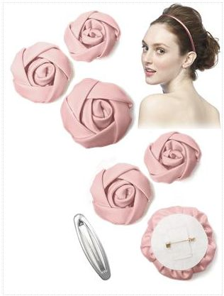 Love these flower pins for the bridesmaids. You can clip them to your hair or clothing for a touch of color.  http://www.thebridelink.com/blog/2013/04/05/blush-and-pink-bridesmaid-dresses/ #wedding #bridesmaids #pink #dresses