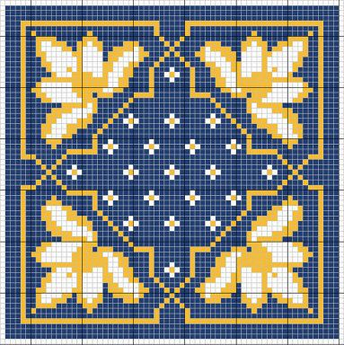 Cross-stitch biscornu ... no color chart available, just use the pattern chart as your color guide.. or choose your own colors...   ....A PUNO DE CRUZ | Aprender manualidades es facilisimo.com