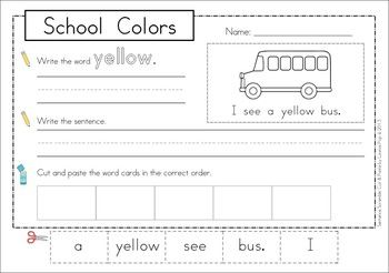 sentence scramble with cut and paste worksheets school colors cut and paste the o 39 jays and. Black Bedroom Furniture Sets. Home Design Ideas