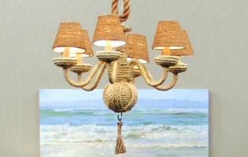 DIY Rope Chandelier: