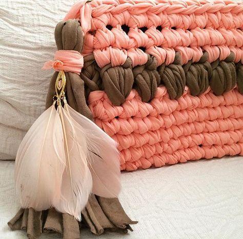 связанная сумочка из т-пряжи