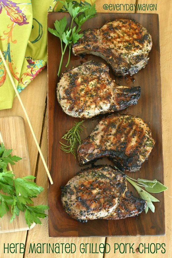 Marinated pork loin chops recipe