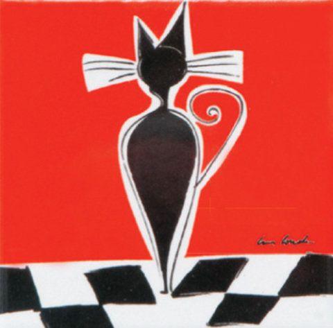 Gato (10 x 10 cm) da artista plástica Cristiane Conde. Custa 25 reais, a uni...