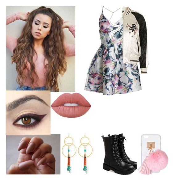 """Here's Sara! (I'm back) (RTD)"" by officially-psycho ❤ liked on Polyvore featuring Sans Souci, Topshop, Lime Crime, Devon Leigh and Ashlyn'd"
