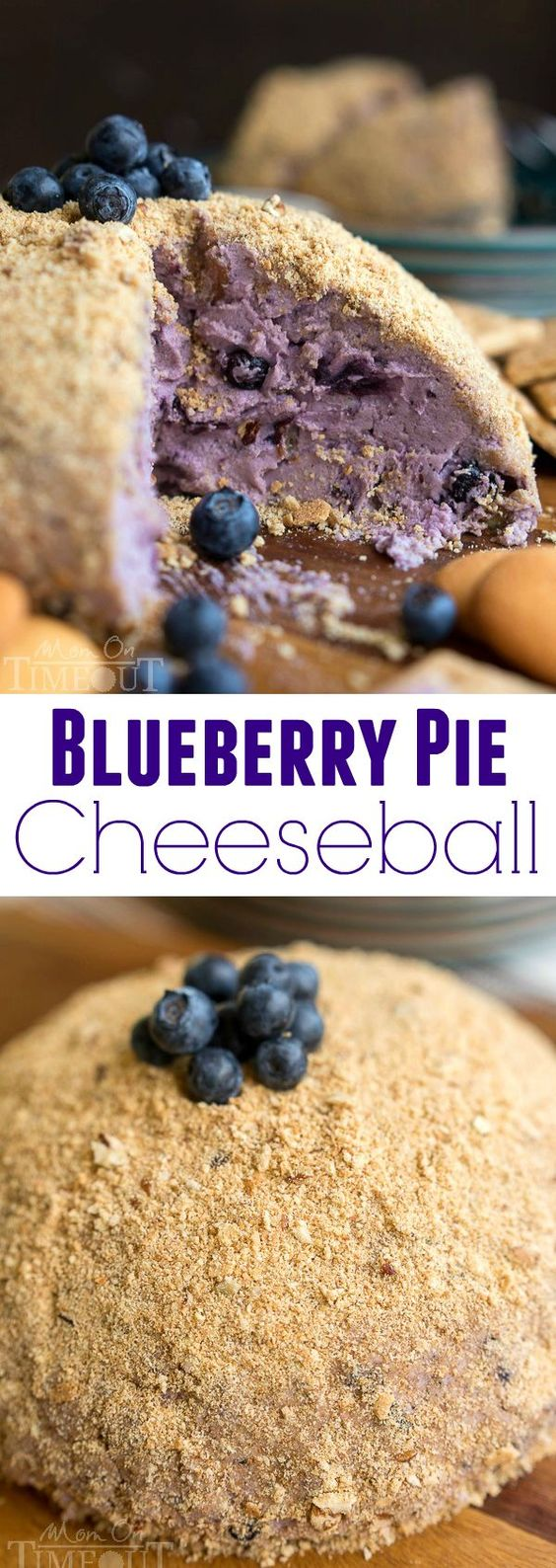 This Blueberry Pie Cheese Ball tastes just like a blueberry cheesecake ...