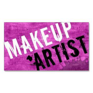 Cosmetologist Business Card Makeup Artist Grunge